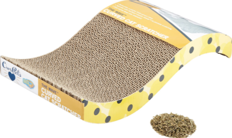 OurPets The Wave Curved Cat Scratcher #ChewyInfluencer