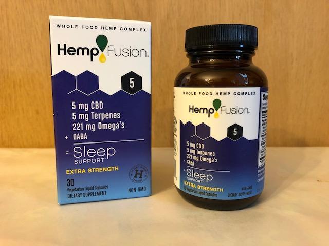 HempFusion Sleep is Hemp Extract CBD+Terpenes+Omegas+GABA